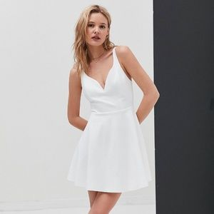 Urban Outfitters White Sweetheart Dress